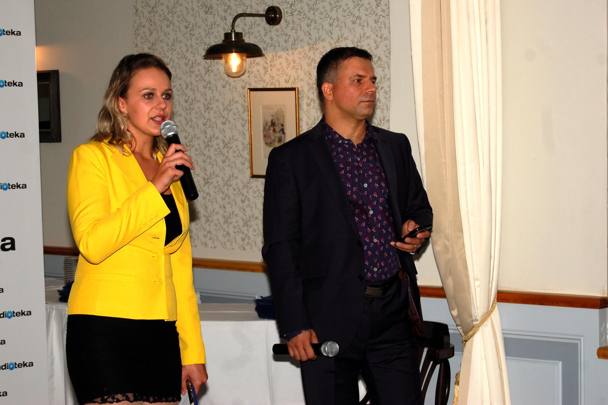 Alžběta Vorlová, Petr Michálek (spolumajitel Audiotéky)